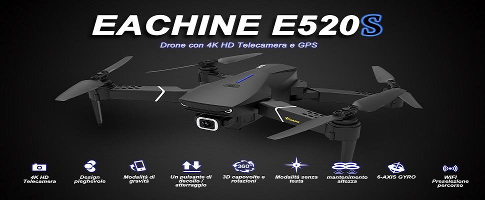 EACHINE E520S Drone GPS 4K Telecamera